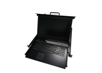 China 17 Inch LCD KVM Monitor Switch Long Using Life 4 Ports For 4 Computers supplier