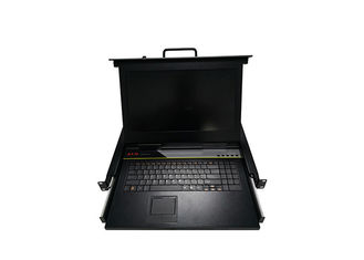 China High Brightness 8 Ports Rackmount Monitor Keyboard Drawer 1280*1024 Resolution supplier