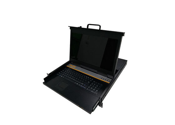 China 15.6 Inch KVM LCD Switch , 4 Ports 1U KVM Rack Mount Monitor CE Certificated factory