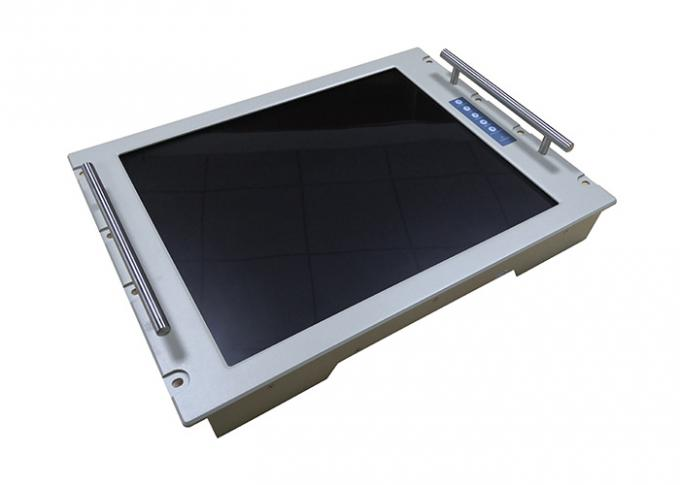 Rack Mounted Industrial Display Monitors 19 Inch Sandblasting Oxidation Surface