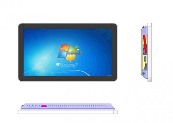 22 Inch Capacitive LCD Touch Screen Monitor Desktop Installation Metal Case